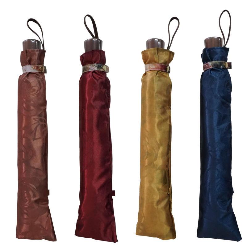お花のアート!高級サテンジャガードの両面転写花柄傘55cm丈夫な二段式/折畳傘 [OSK032WA/PI/KA/NA ]
