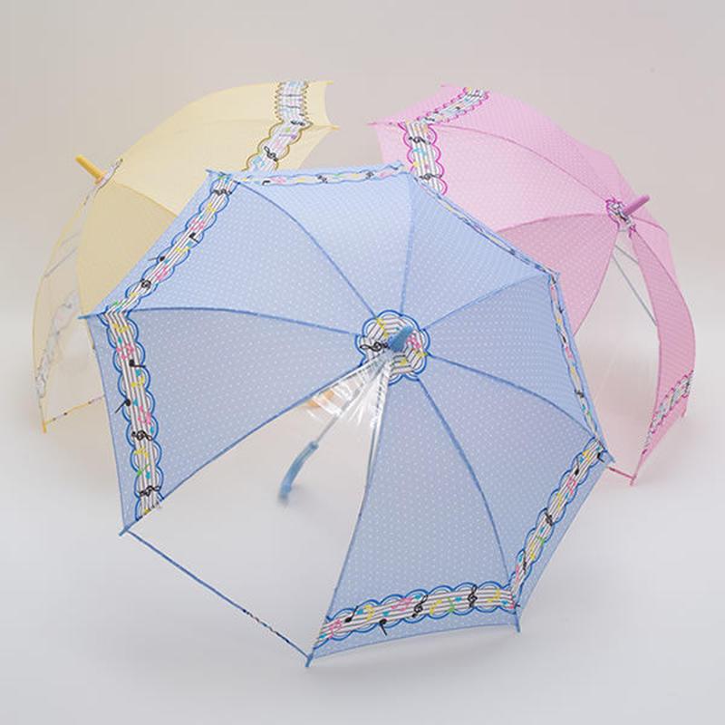 こども用 おんぷ柄の傘 55cm/長傘 [CB5590 P/Y/S]