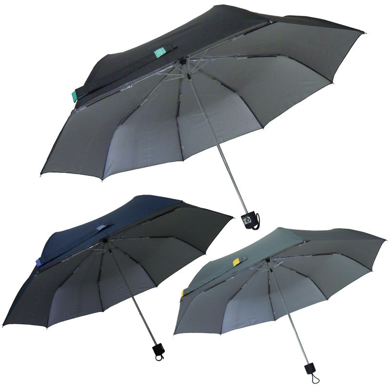 熱中症予防に!風に強く、男性にも女性にも使える!58cm/ミニ折たたみ傘 [OSS024BL/NE/GR]