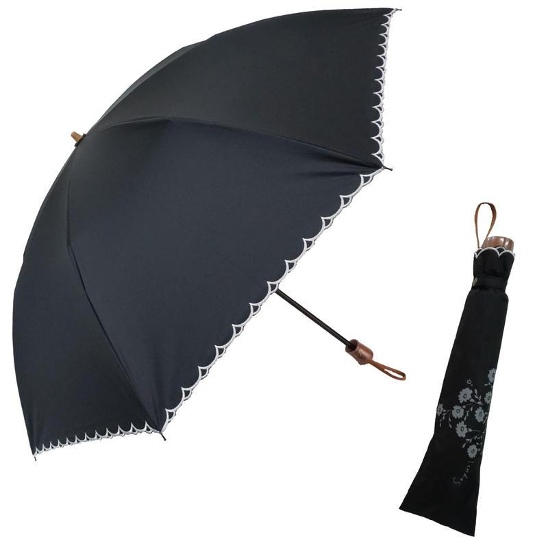 紫外線から肌を守る軽量コーティング生地(UPF50+)遮光率99.8%以上! 50cm/折りたたみ二段式 晴雨兼用傘 [OSL112BL/PI/WH]