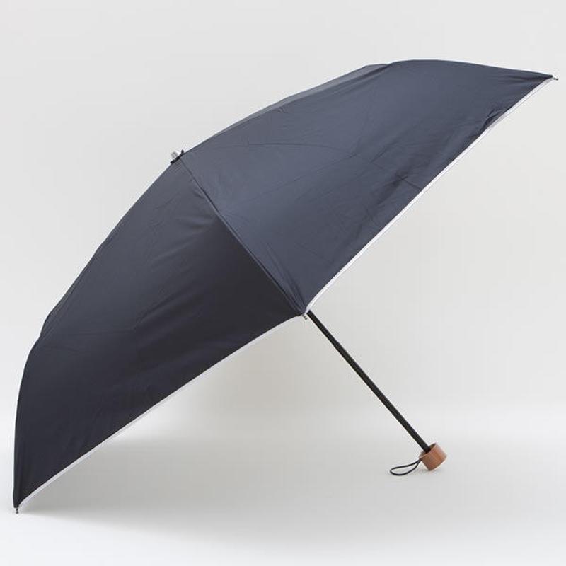 熱中症対策「男の日傘」雨にも強い!  60cm/ミニ折たたみ傘 [H744 BL/N]