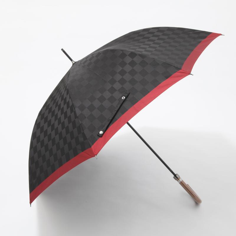 【日本製】市松模様のブロック格子柄 65cm/長傘 [A13027 A/B/C/D]