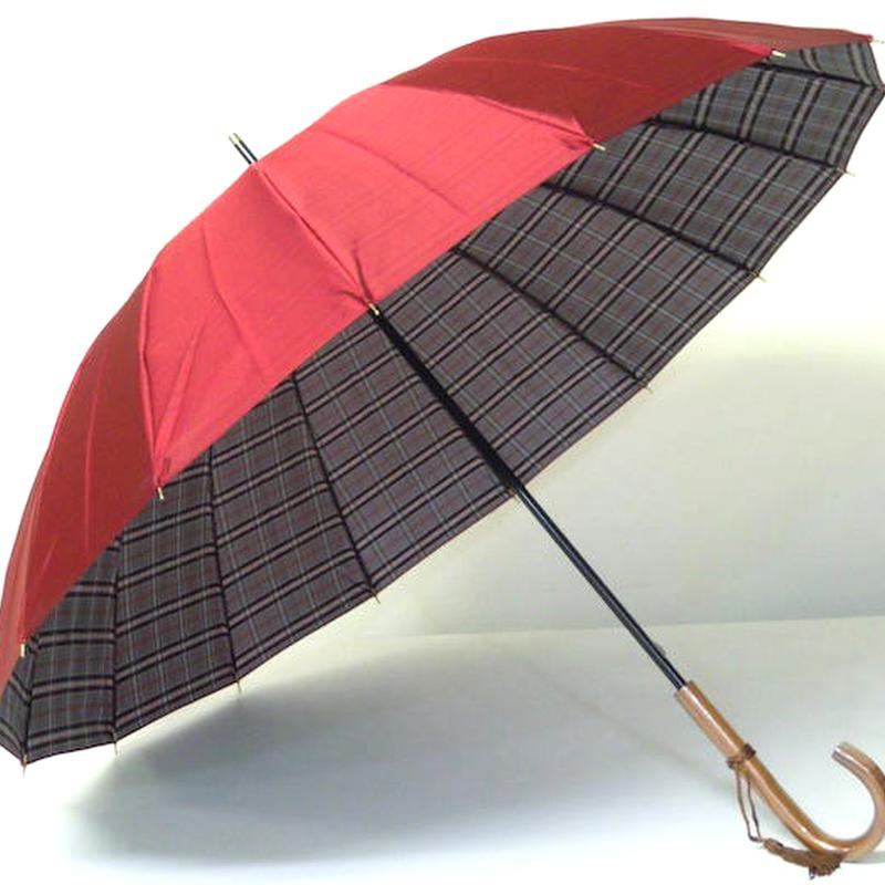 日本製 高級 16本骨の傘 55cm/長傘 [OSN001W/P/G/N]