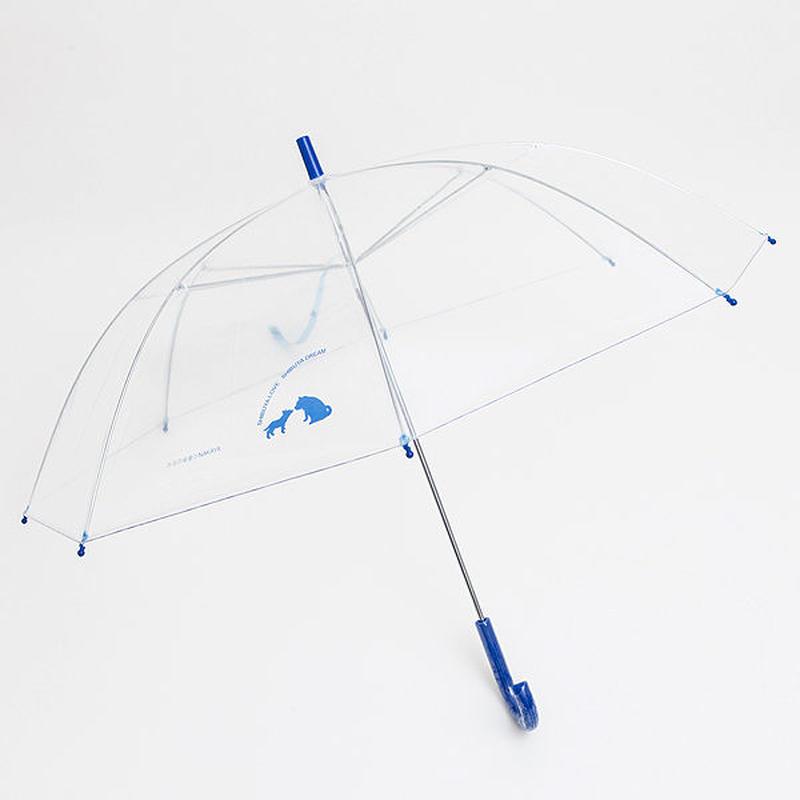 渋谷まちけんビニール傘【LOVE&DREAM】 57cm/長傘 ブルー [NM57B2]