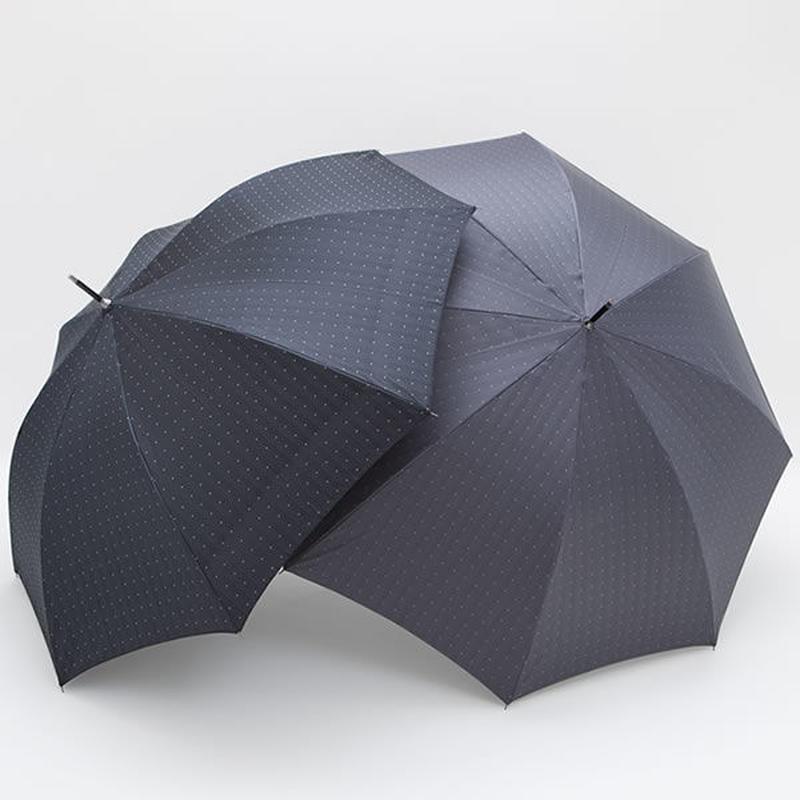 【日本製】 先染めジャガード生地の傘 ドット柄 65cm/長傘 [OSJ0003 GR/BL]