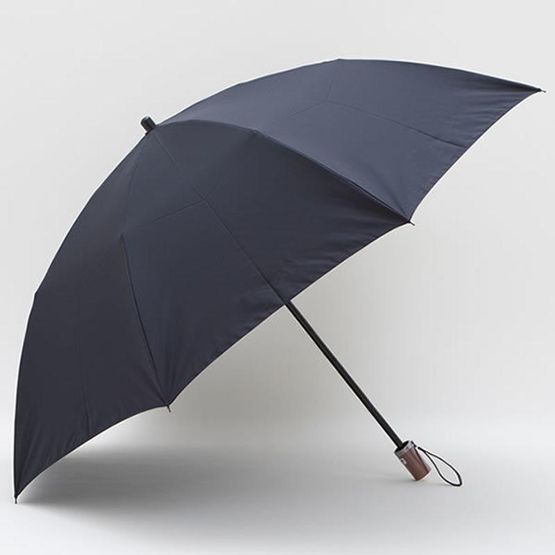 【日本製】超はっ水 無地のシンプルな傘 60cm/二段式折りたたみ傘 [E16888 A/B/C/D]