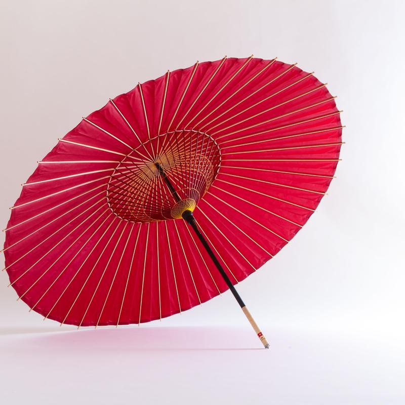 【日本製】特選蛇の目傘(赤)【YJANE】※