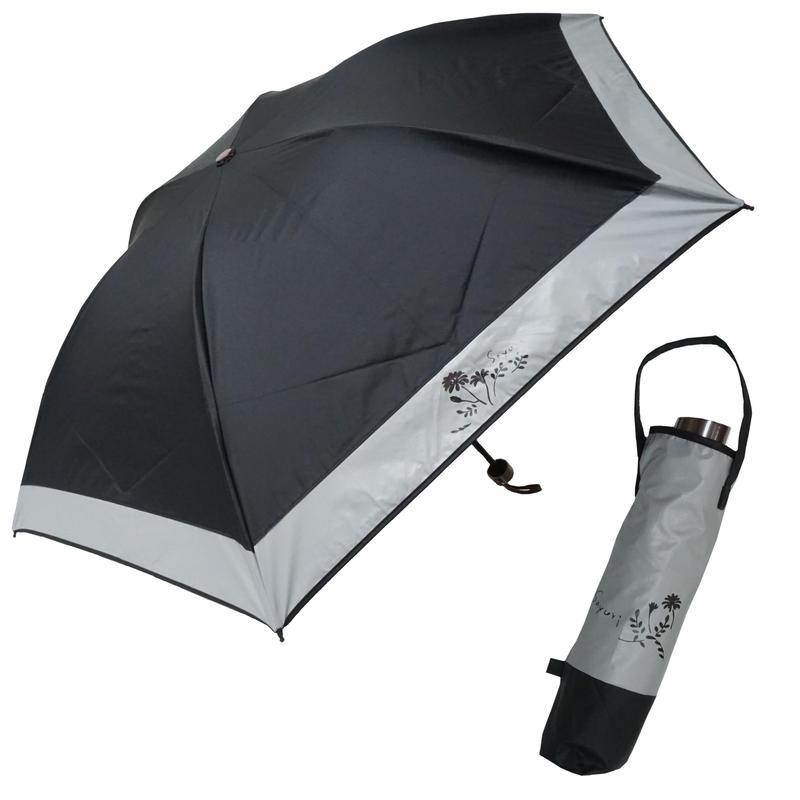紫外線から肌を守る軽量コーティング生地(UPF50+) 遮光率99.98%以上!50cm/折りたたみ ミニ晴雨兼用傘 [OSL110 BL/PI/WH]