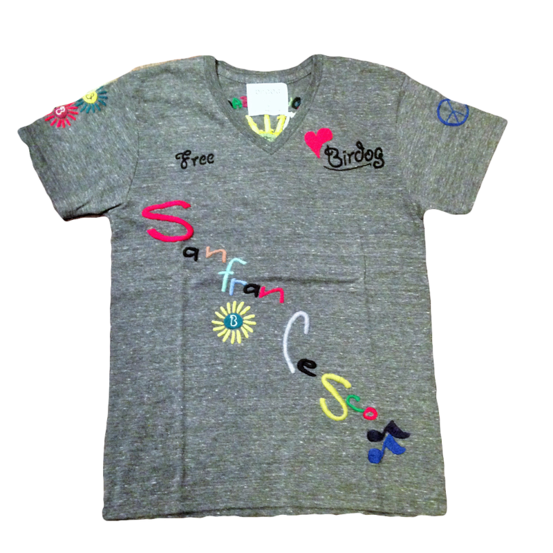 birdog 手刺繍サンフランシスコTシャツ BLK