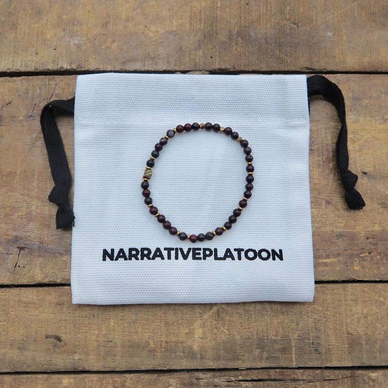 NARRATIVE PLATOON slim bracelet BLACK