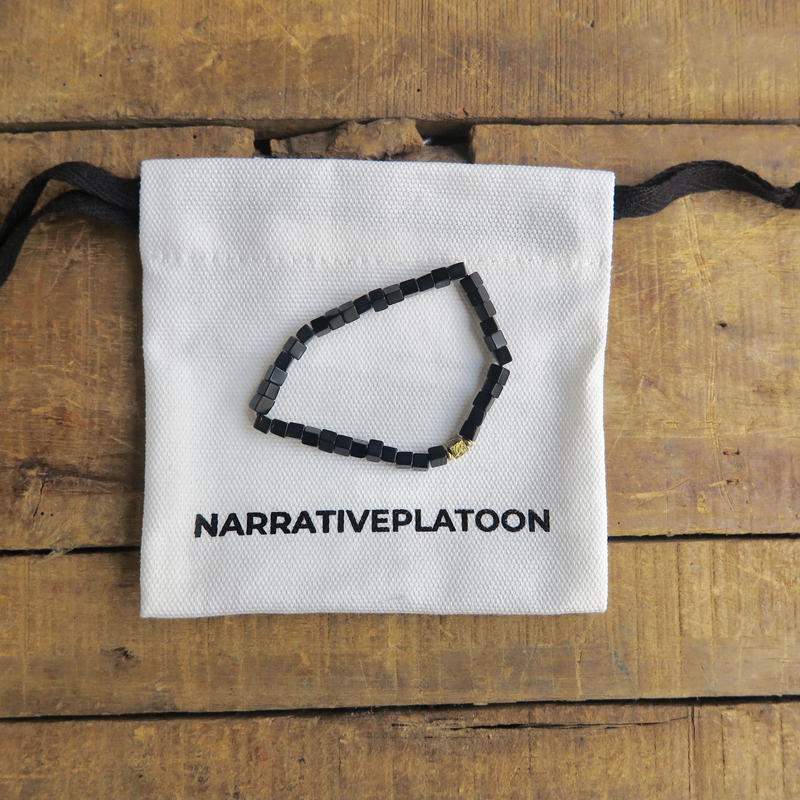 NARRATIVE PLATOON CUBE bracelet ブラック