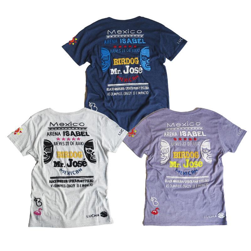 birdog 手刺繍Tシャツ プロレス