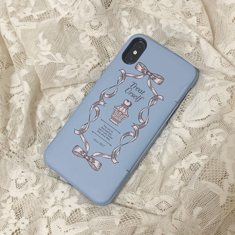 Treat ribbon hard case(Blue)