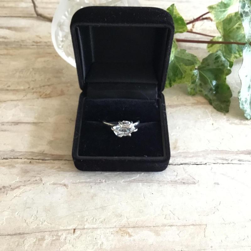 Herkimer diamond ring No,7