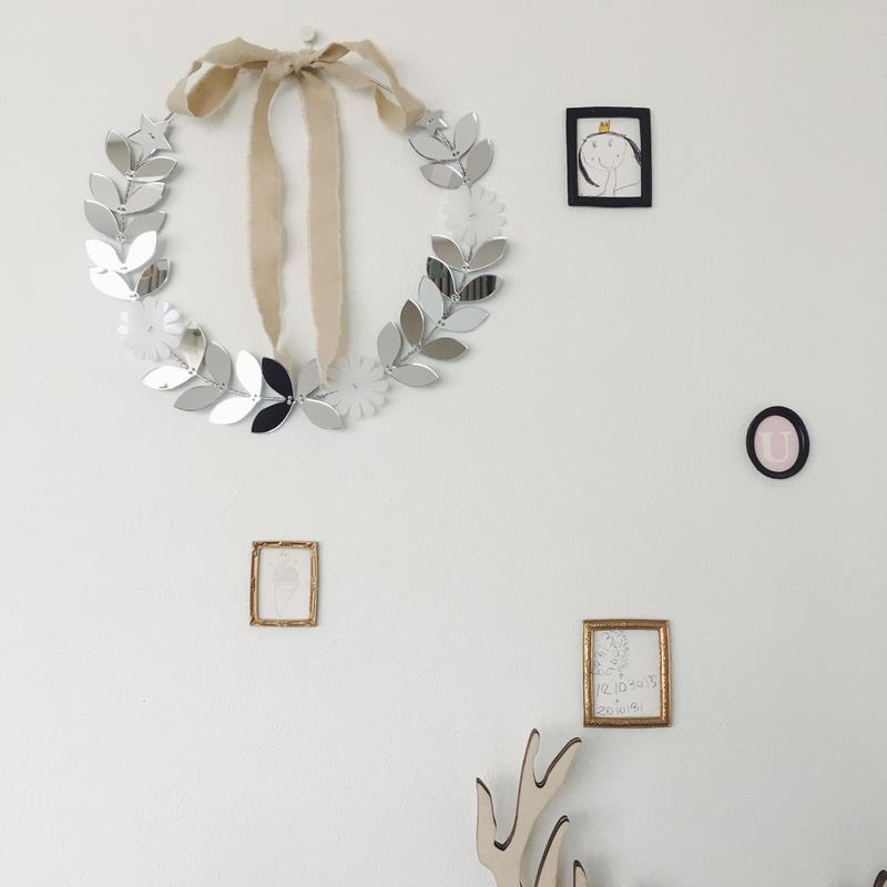 mirror leaf wreath