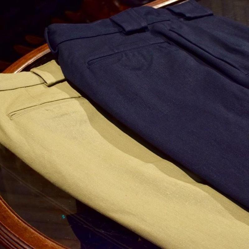 Nigel Cabourn / 2Pleats Wide Pants/Vintege Twill