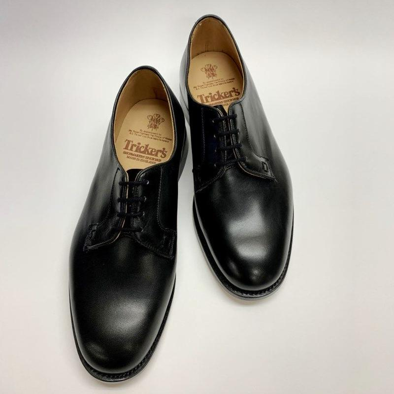 19.05 Rejected Tricker's / Black / Plain Toe Derby / Leather  Sole / Size 8-6Fitting