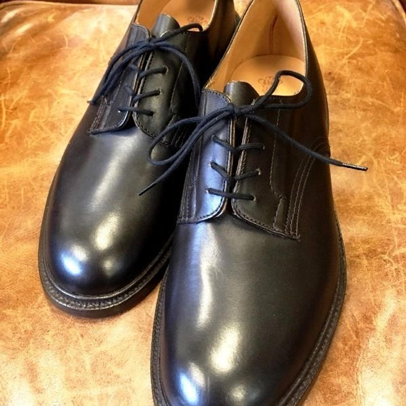 17.40 Rejected Tricker's / Dark Brown / Plain Toe Shoes / Leather Sole / Size 9