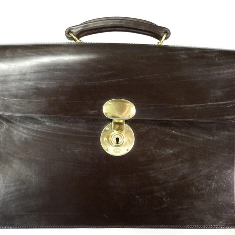 Rutherfords / Flap Over Brief Case  / Black