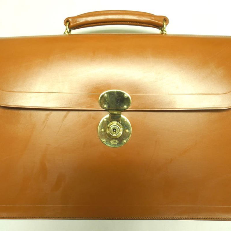 Rutherfords / Flap Over Brief Case  / London Tan