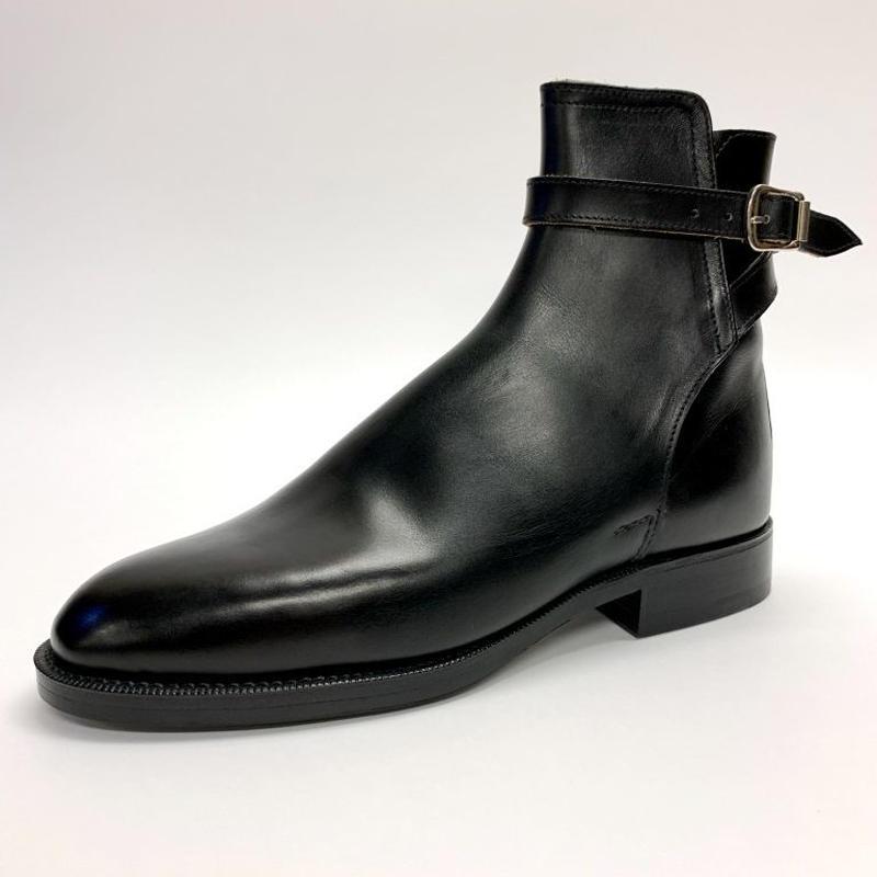 Schnieder Riding Boots × UW / Strap Jodhpur Boots / Black