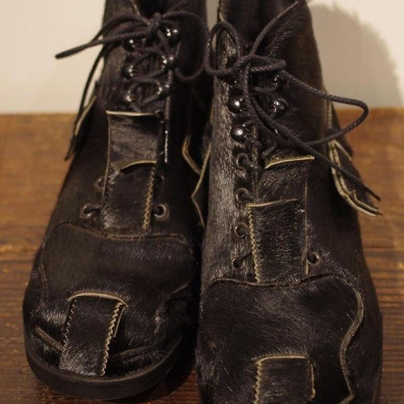 John Moore Unborn Calf  Toe Patch Boots Size 9