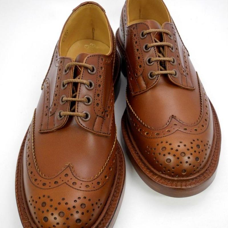 Tricker's × UW / Country Brogue Shoes / Marron Antique