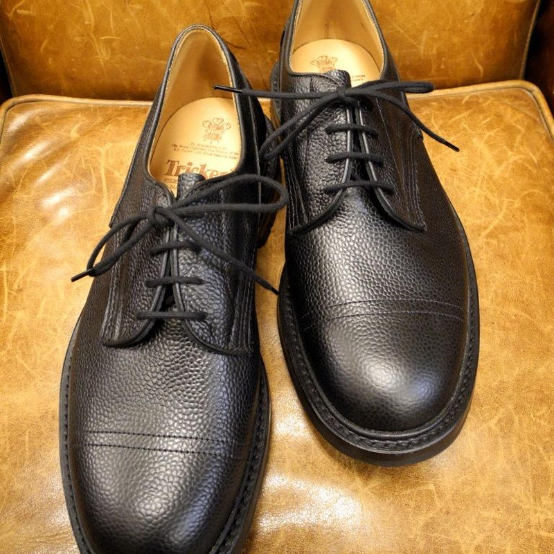 18.30 Rejected Tricker's / Black / Imitation Cap Toe Shoes / Command W Sole / Size 9 , 6fitting