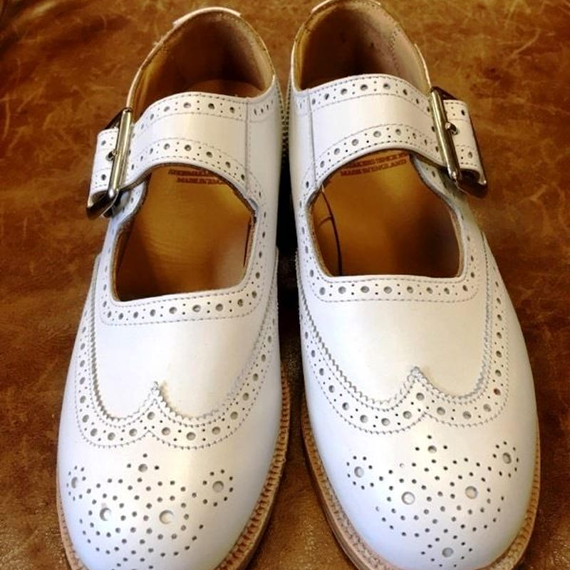 17.53 Rejected Tricker's / White / Mary Jane / Leather Sole / 4fitting / Ladies / Size6