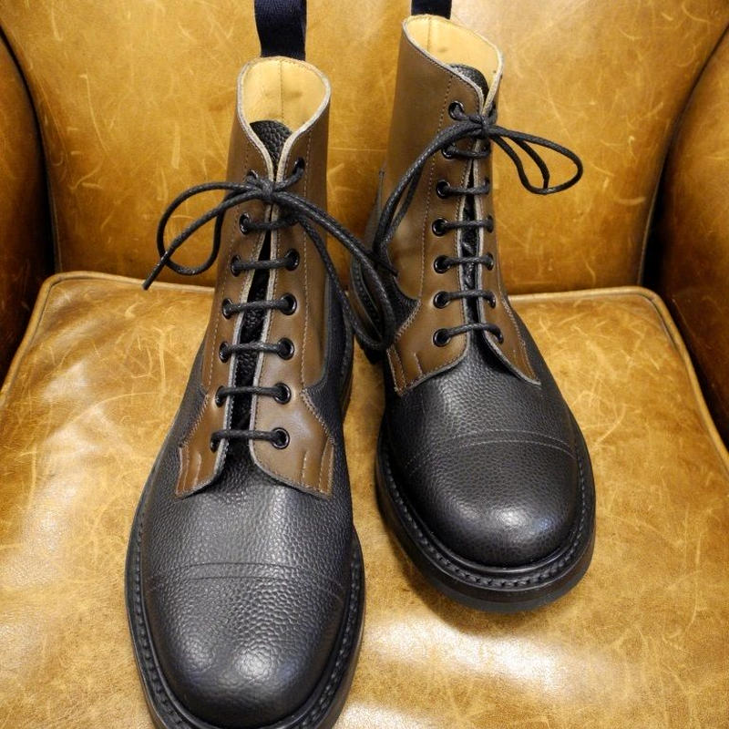 18.11 Rejected Tricker's / Brown Combi / Imitation Cap Toe Boots / Command W Sole / Size 6 half