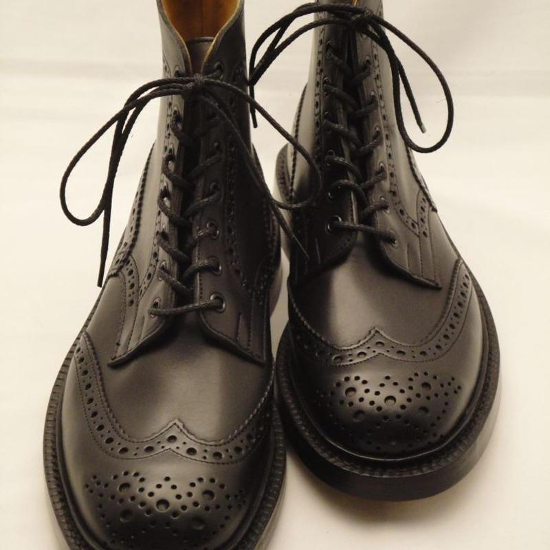 Tricker's × UW / Country Brogue Boots / Black MC
