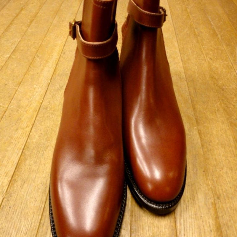 Schnieder Riding Boots × UW / Strap Jodhpur Boots / Chestnut