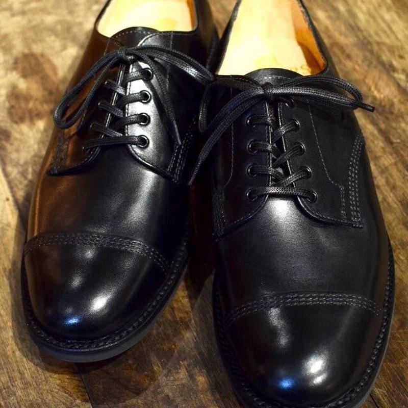 Sanders  / Military Cap Derby Shoes / Black
