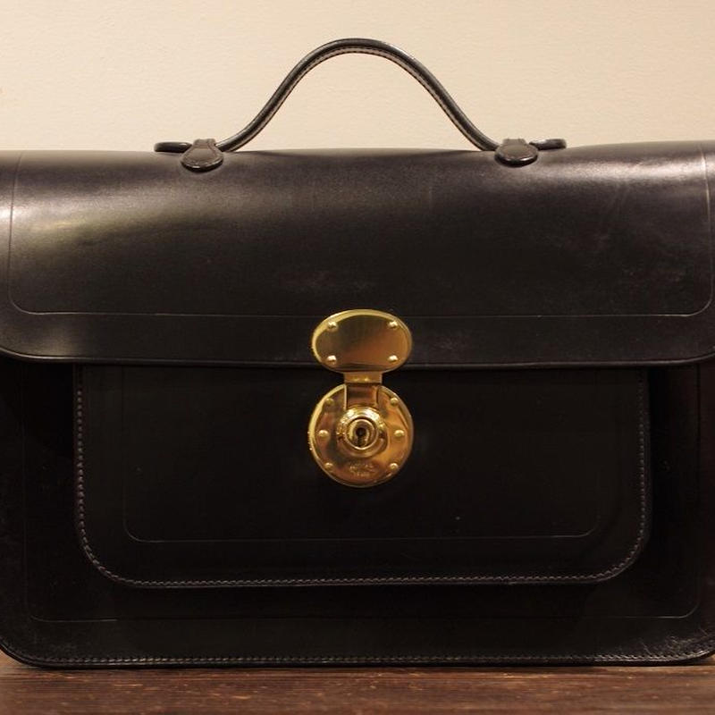 Rutherfords / Satchel With 806 Lock  / Large /Black