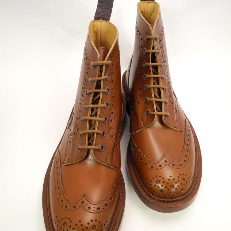 Tricker's × UW / Country Brogue Boots / Marron Antique