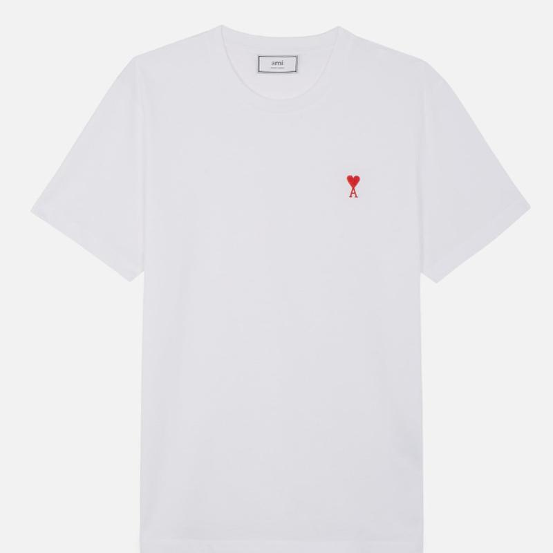 ホワイト コットンジャージー Tシャツ E18J107.71