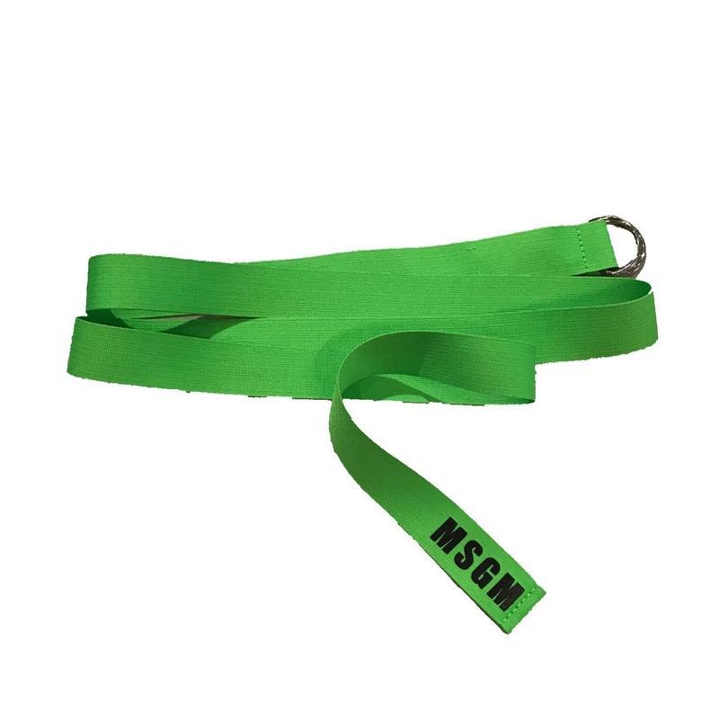 MSGM - Ribbon Logo Belt グリーン