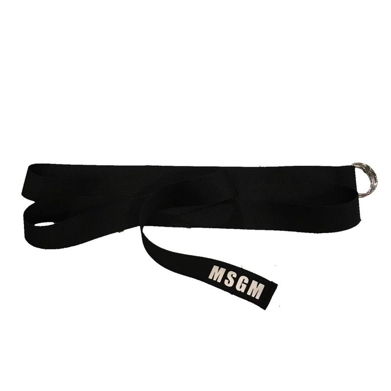 MSGM - Ribbom Logo Belt BLACK