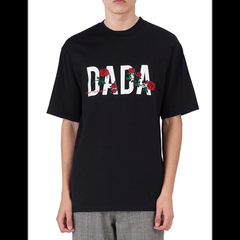 """DADA"" LOGO ROSE EMBROIDERED SIGNATURE T-SHIRT"