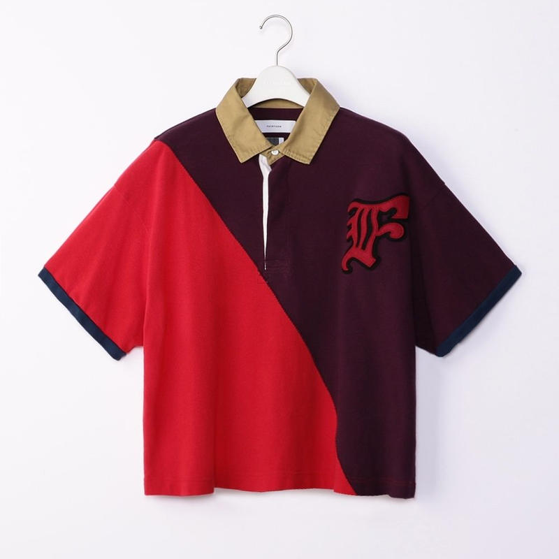 FACETASM SWITCHED PATCH POLO SHIRT