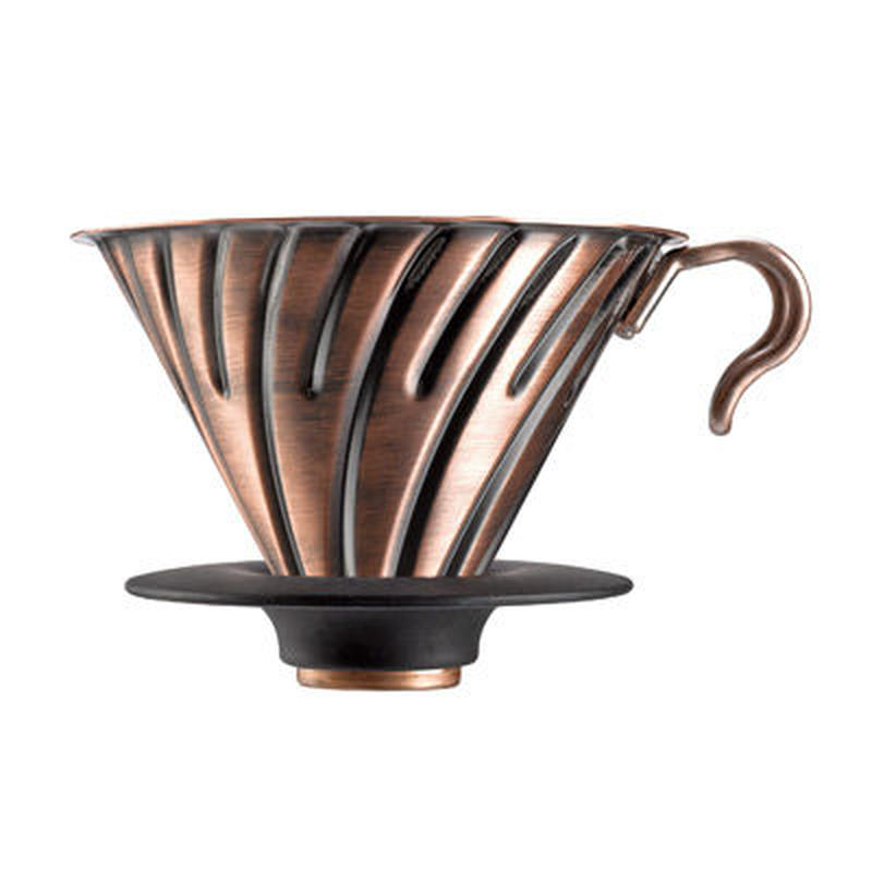 HARIO V60 METAL DRIPPER COPPER (1-4cups) / ハリオV60 メタルドリッパー カパー(1-4杯用)