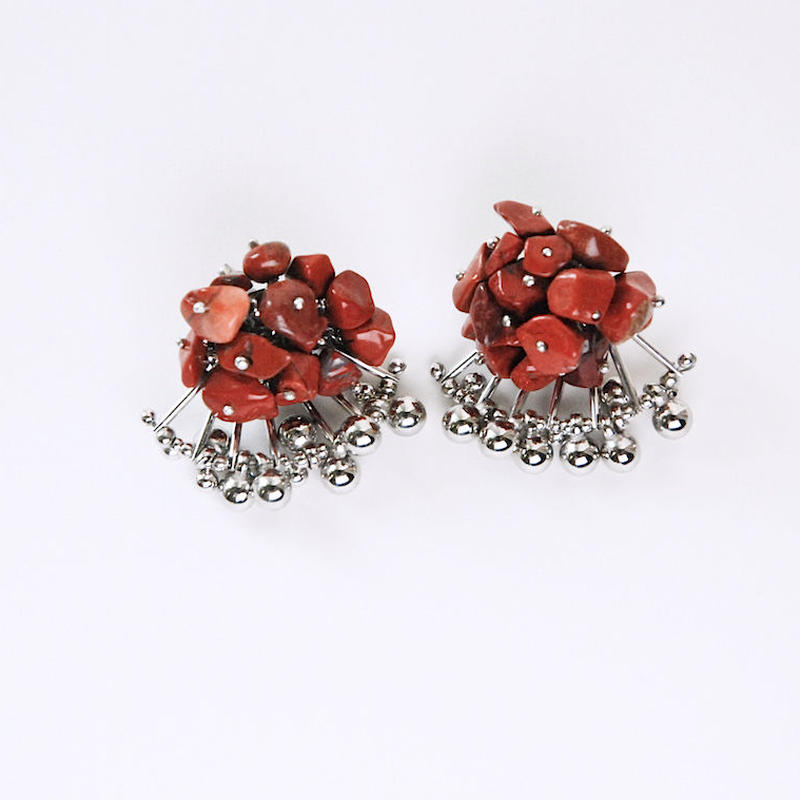<CIITA>Aria Earrings -RED JASPER