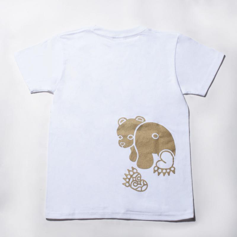 Tシャツ【ホワイト・ゴールドプリント】