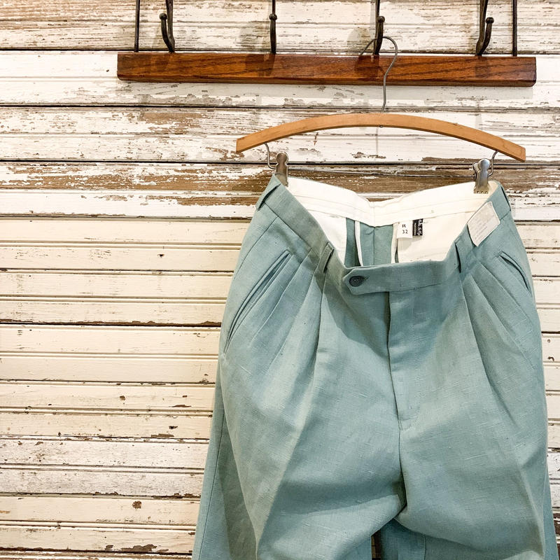 1980's Unknown Cotton&Linen Trousers Deadstock