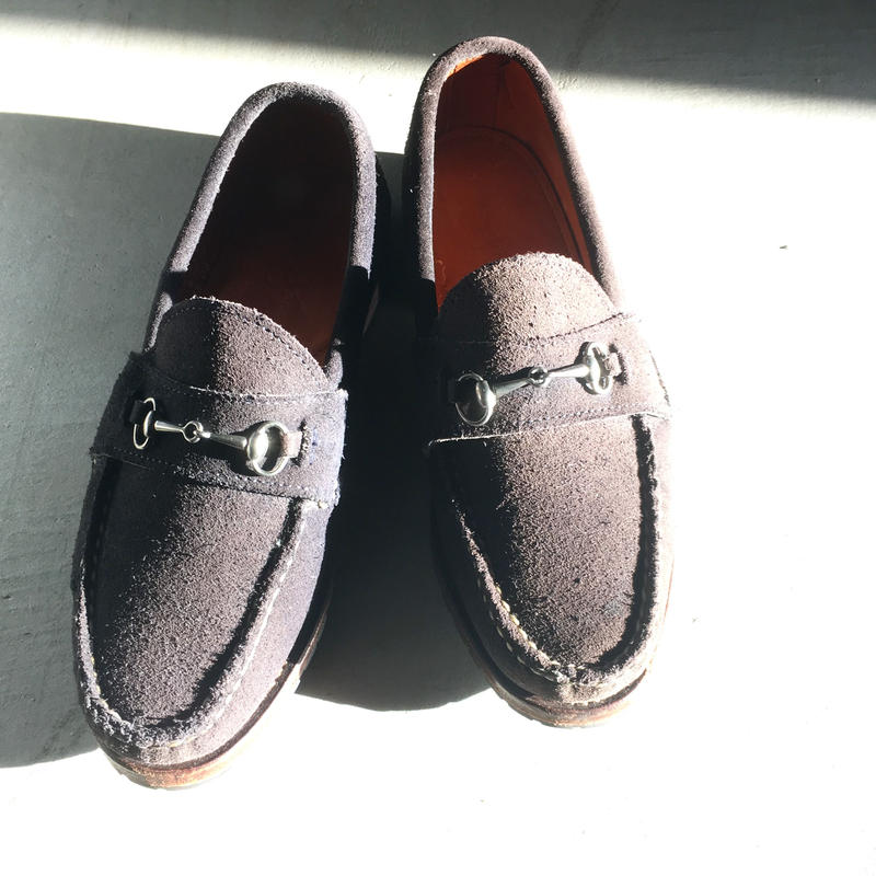 1990〜00's RANCOURT&CO. Blue Suede Bit Loafers