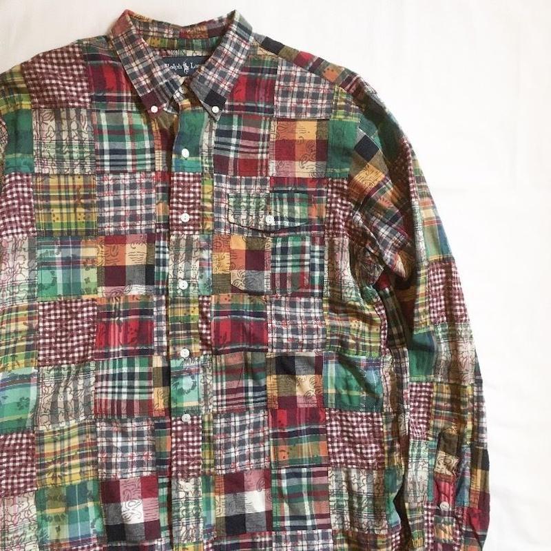 2000's〜 Polo by Ralph Lauren Madras Patchwork L/S Shirt