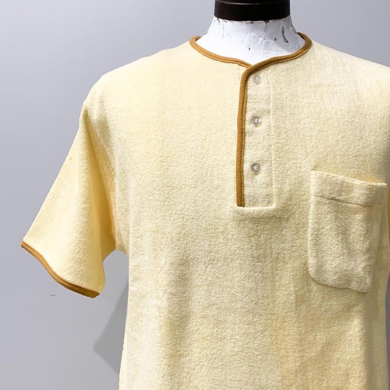 1960's HANES Pile Henlyneck S/S Shirt Deadstock