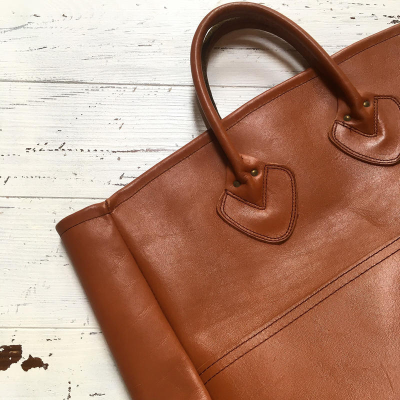 1980's L.L.Bean Leather Tote Bag