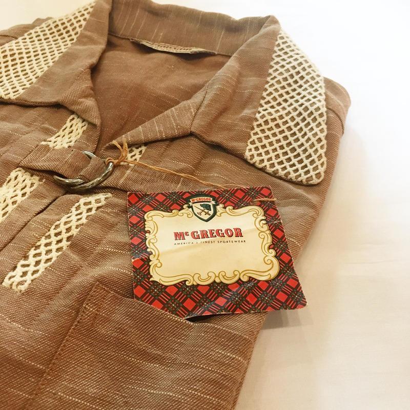 1950's〜 McGREGOR Pullover S/S Shirt Deadstock