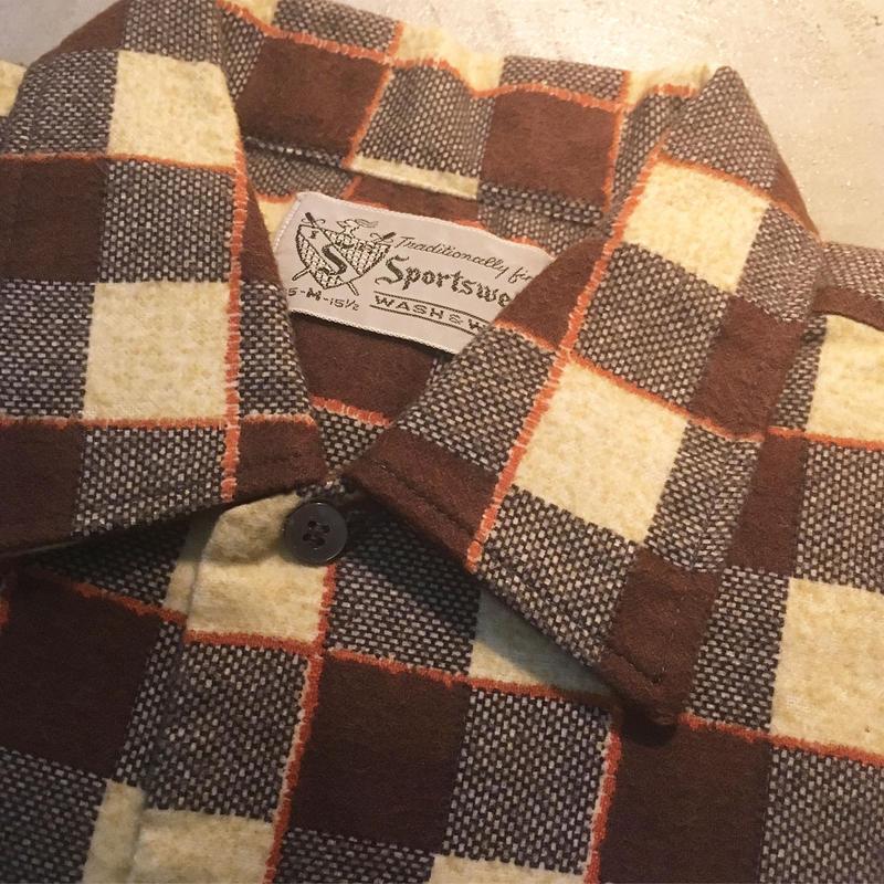 1960's Sportwear Flannel L/S Shirt Deadstock